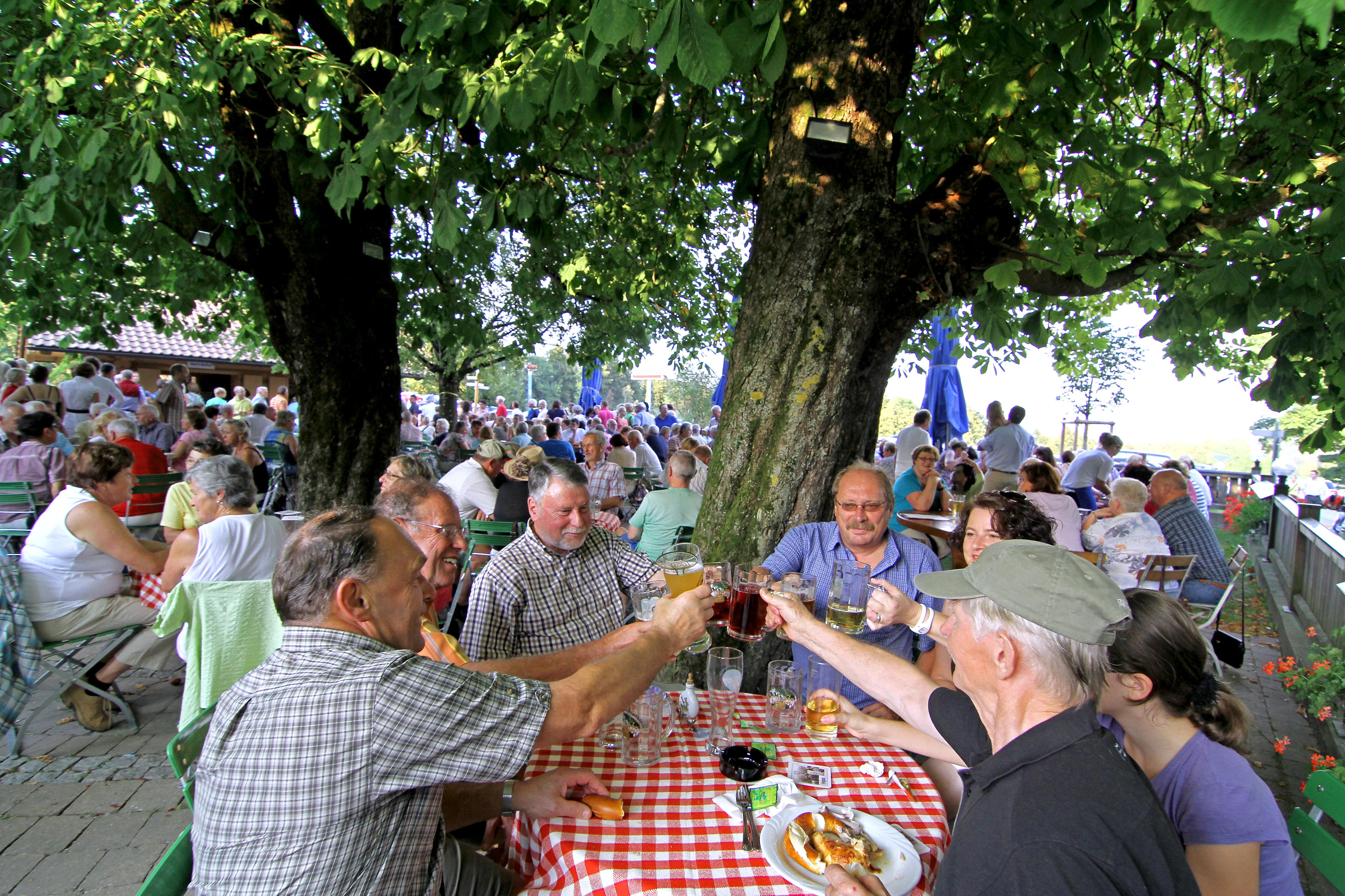 Biergarten in Waltenhofen im Allgäu